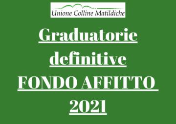 Leggi: «Fondo affitto 2021, le graduatorie definitive»